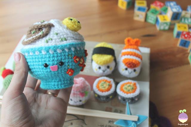 Amigurumi Food Sushi : Amigurumi Food: New Crochet Pattern! Bento Family / Sushi set