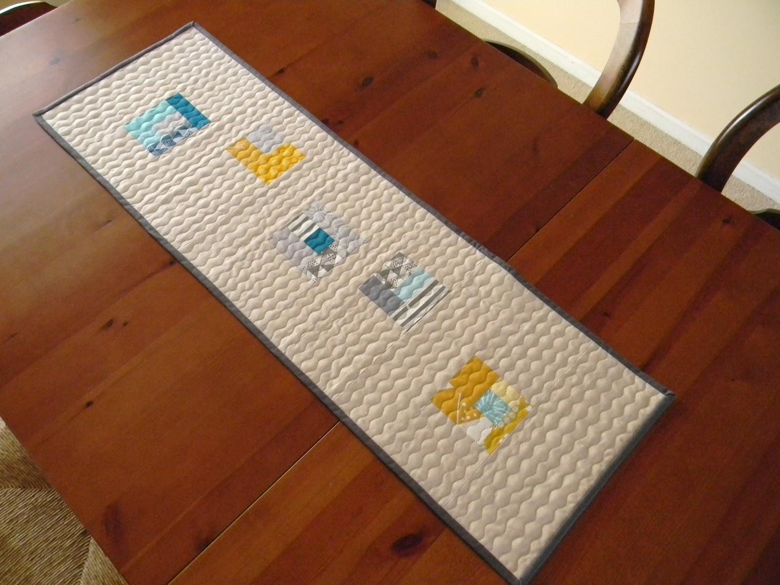 Teaginny designs modern table runner for Table runner quilt design