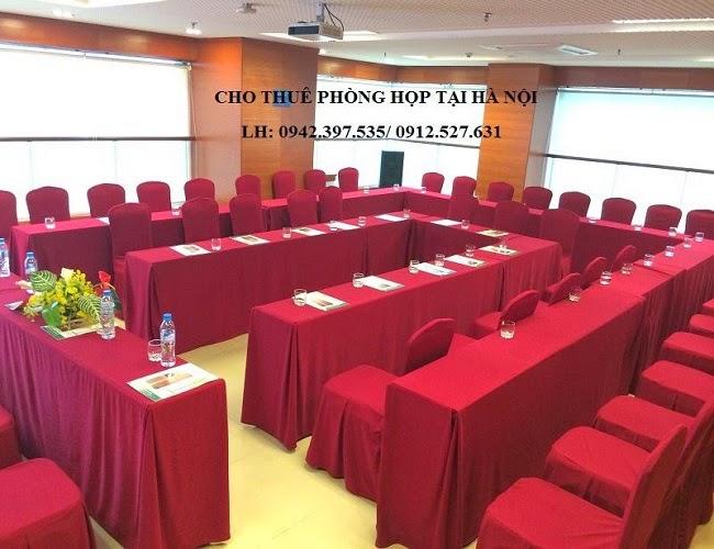 Phòng họp dọc hình chữ U , sức chứa từ 20 - 40 người