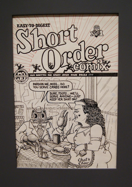 Art Spiegelman's CO-MIX: A Retrospective at the Art Gallery of Ontario in Toronto, artmatters, culture, graphic novels, The New Yorker, Maus, Comic books, drawings, pulitzer prize, ontario, canada, the purple scarf, melanie.ps, AGO, cover, short order cook, no.1, 1972