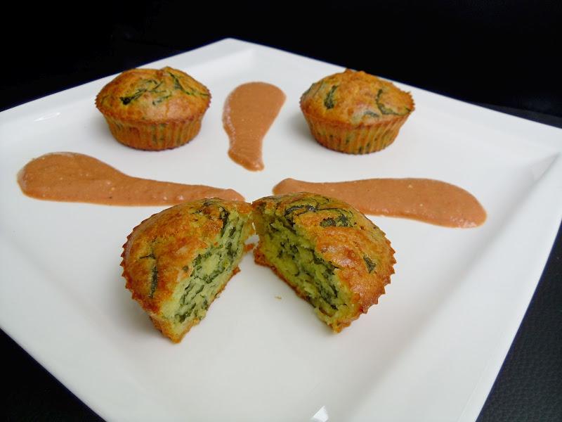 Gourmande ou passionn e muffins au ch vre et feuilles - Comment cuisiner des feuilles de blettes ...