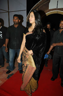 Actress Anushka Latest Pictures in Saree at Varna Audio Launch  0007