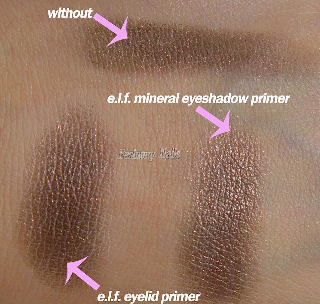 e.l.f. Eyelid Primer vs e.l.f. Mineral Eyeshadow Primer