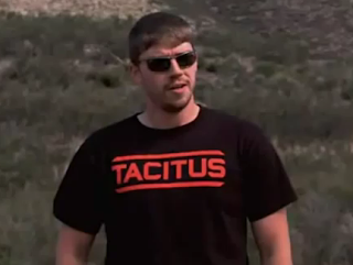 FPS Russia wearing Tacitus T-shirt