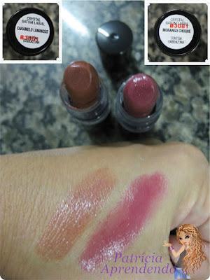Resenha Batom Avon Color Trend Crystal Caramelo Luminoso Morango Choque