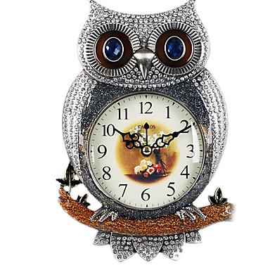Reloj Búho Plateado