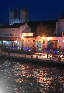 The river at night, Malacca Malaysia