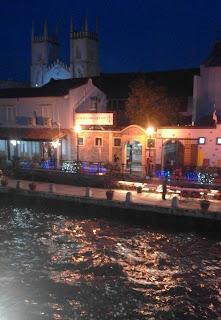 The river at night, Malacca Malaysia