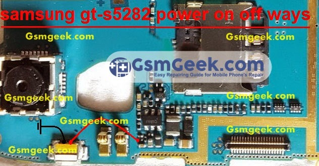 Samsung S5282 power Switch Ways problem Repair Solution