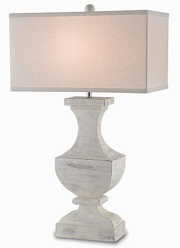 rustic white rectangular lamp