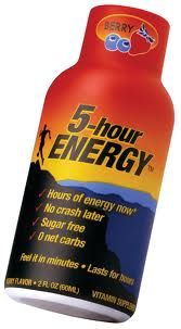 5-Hour Energy shots in conjunction with 13 deaths.
