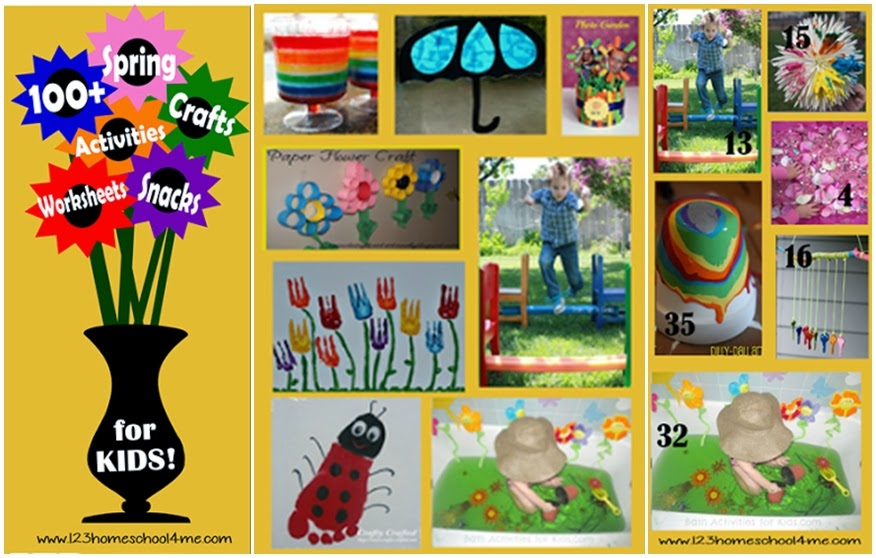 100+ Spring Crafts and Kids Activities