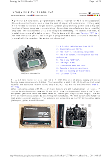 Turnigy 9x 2.4GHz radio Manual PDF