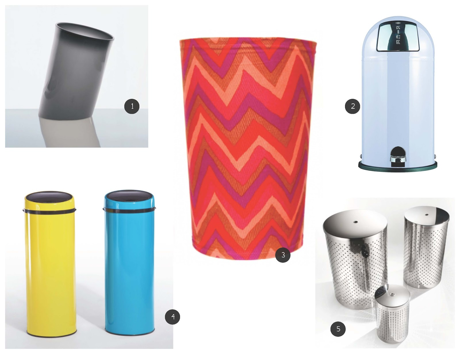 Crazy good design 10 cool trash cans - Cool wastebaskets ...
