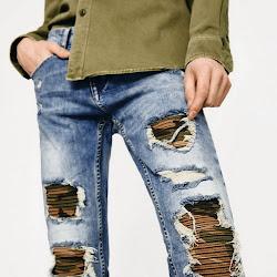 Рваные джинсы в трендах!