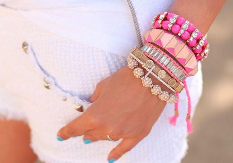 Cute Pink Bracelets