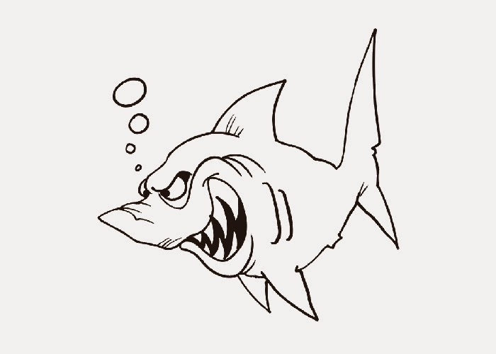 Cartoon shark coloring pages title=