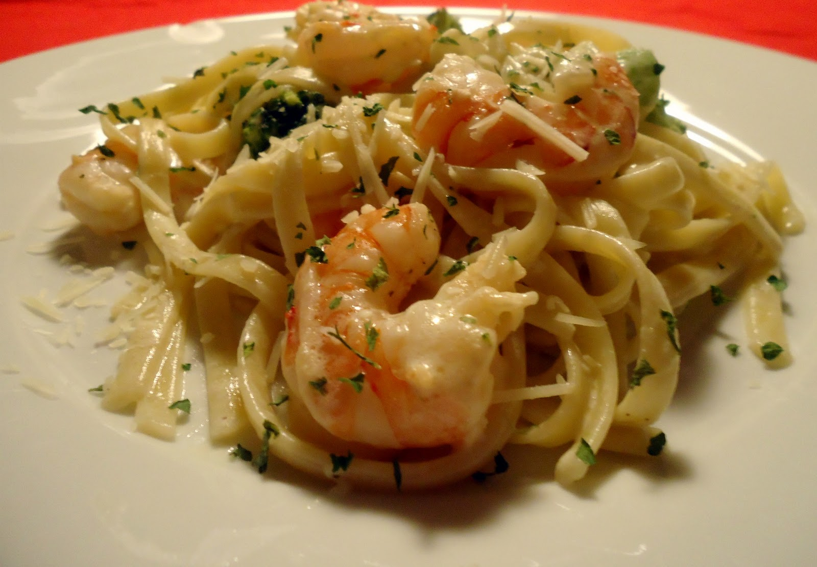 Still Lucky: Shrimp Fettuccine Alfredo