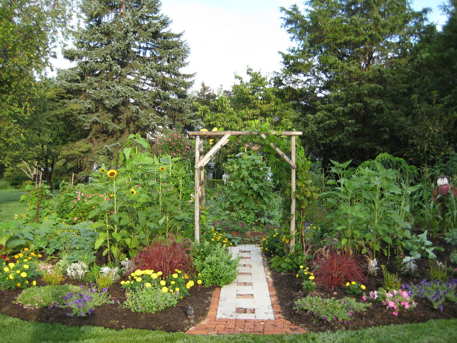 Ornamental Kitchen Garden Master Gardeners Of Rockland Edible Gardening