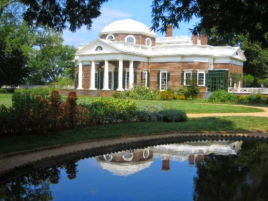 Photo of the House Thomas Jefferson's Monticello, Charlottesville, Virginia, United States