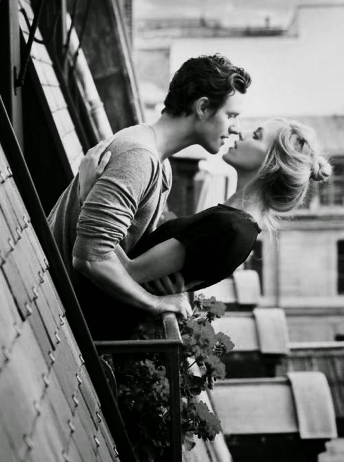 boy and girl in love black and white picture kiss day.jpg