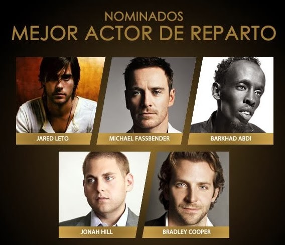 Nominados mejor actor Reparto Oscar 2014