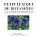[Biblio] - Petit Lexique de Botanique