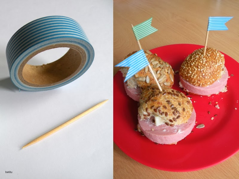 washi tape and toothpicks by betitu
