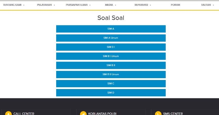 Tes Ujian Sim C Online Cara Membuat Sim
