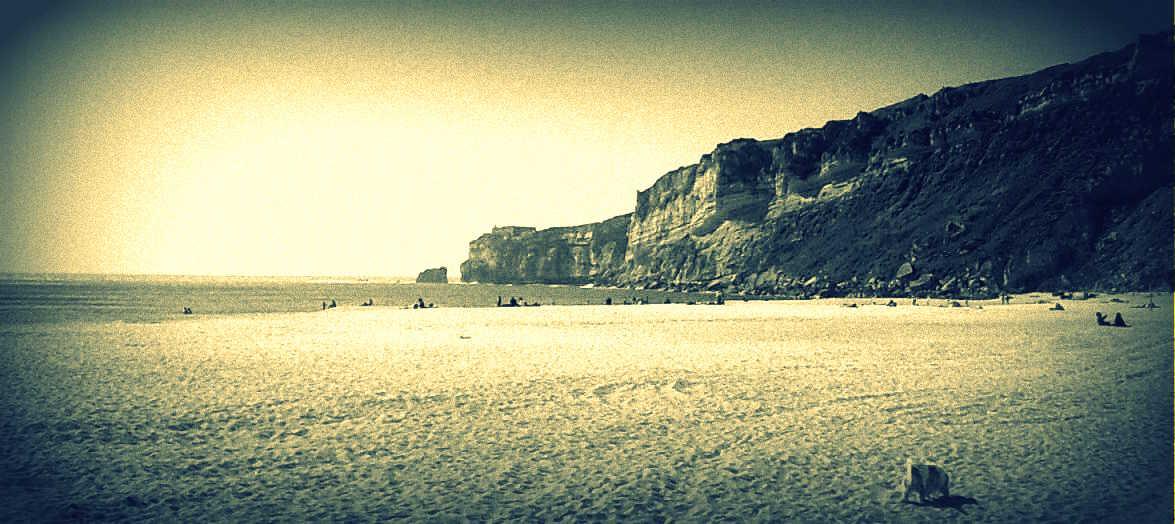 escrita da praia