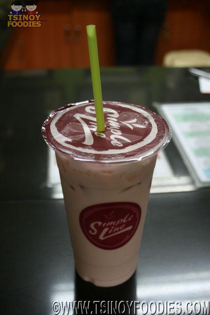 simple line milk tea black