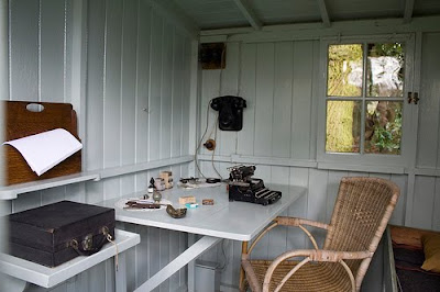 Shaw's Writing Hut Interior