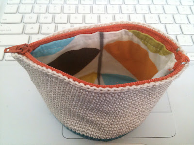 free crochet pattern cotton pouch