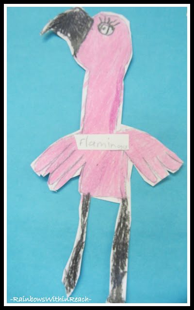 photo of: Child's Drawing of a Flamingo, Fine Motor Skill Development in Children