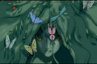 Forest Spirit from The Firebird Fantasia 2000 1999 animatedfilmreviews.blogspot.com