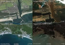 Japan Earthquake Tsunami Before and After Satellite Images