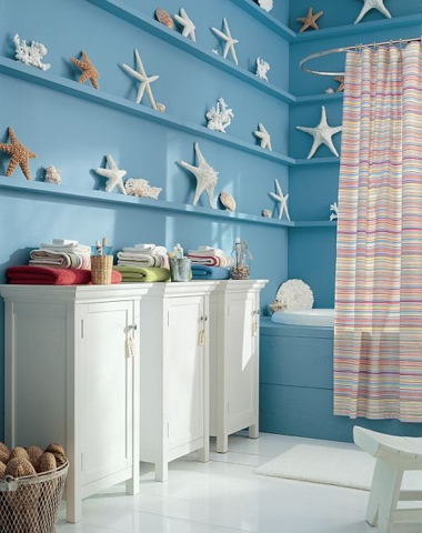 15 beach bathroom ideas completely coastal for Beach themed bathroom decor
