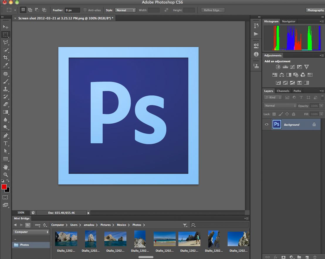 Adobe Photoshop CS6 Screenshot