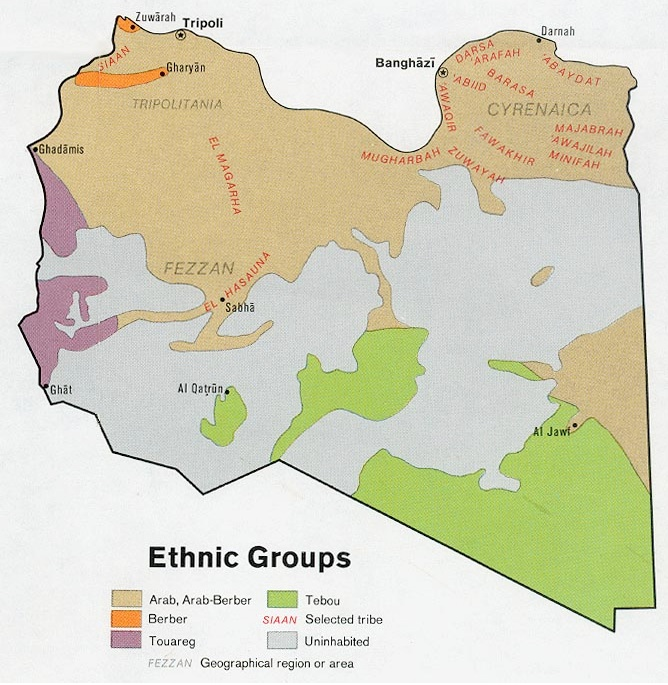Libya\'s Tribal Divisions and the Nation-State   GeoCurrents