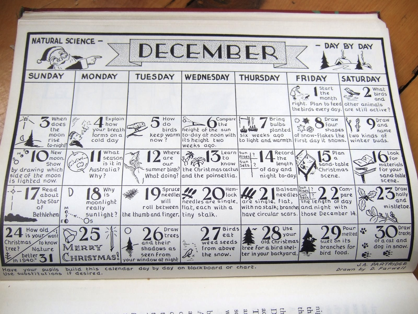 Natural Science Through The Seasons Calendar