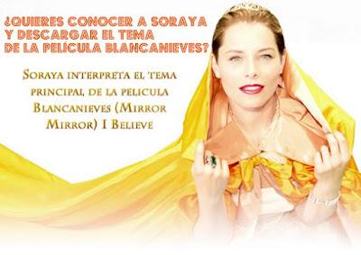 Conoce a Soraya en persona y descarga gratis el tema de la pelicula Blancanieves