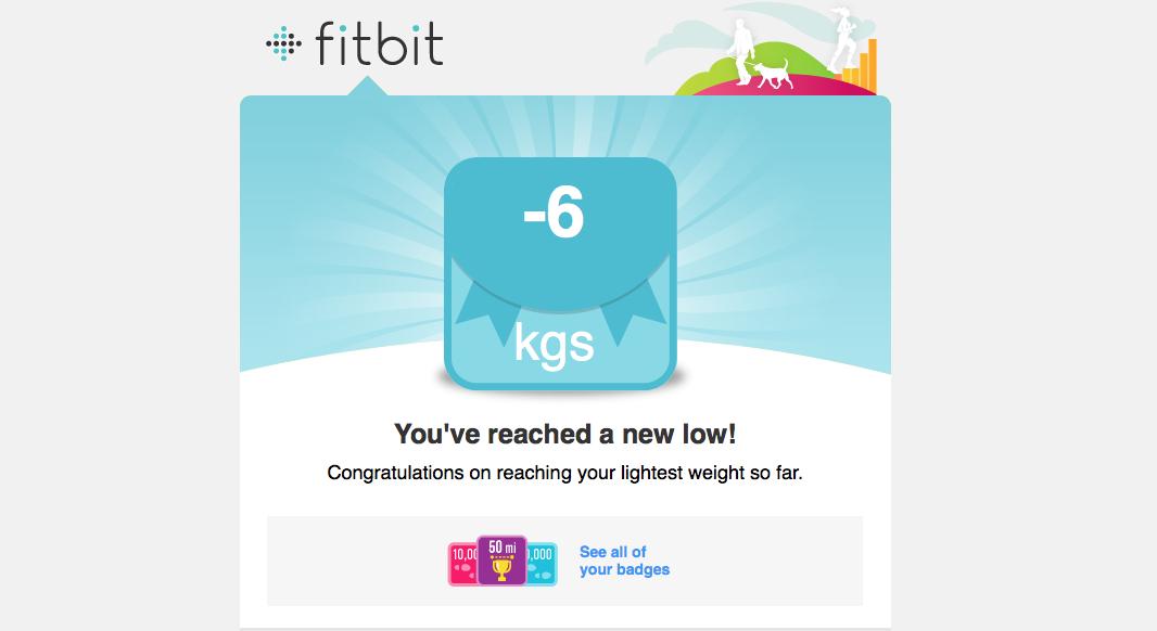 6 kilo afgevallen