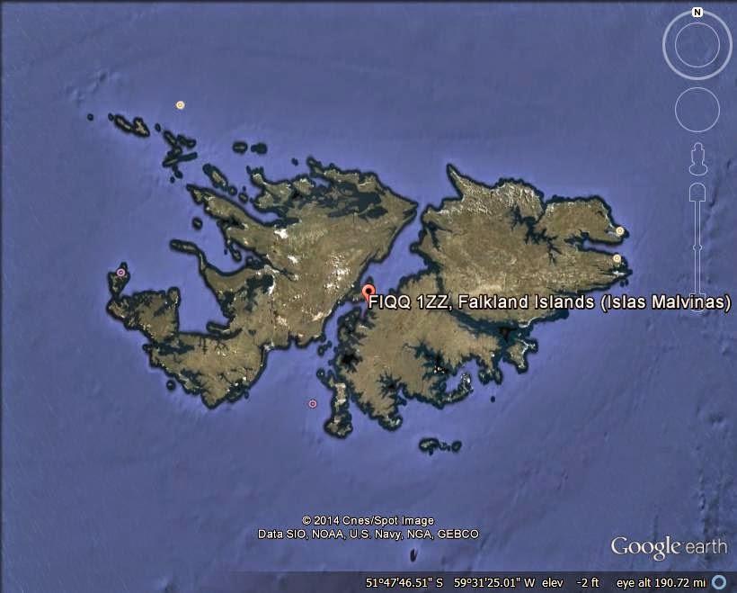 The Falkland Islands/Islas Malvinas - disputed island ranked 1st
