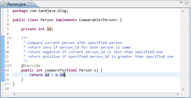 Java to everyone: Comparable And Comparator