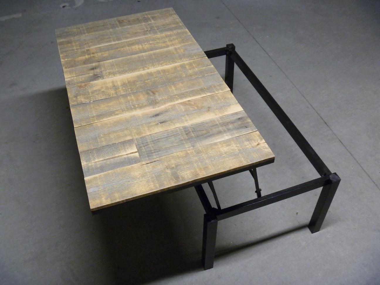 La Menuiserie 503 Une Table Basse Restaur E Fa On Loft Industriel