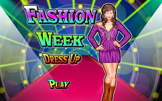 Screenshots of the Dressup Fashion Week for Android tablet, phone.