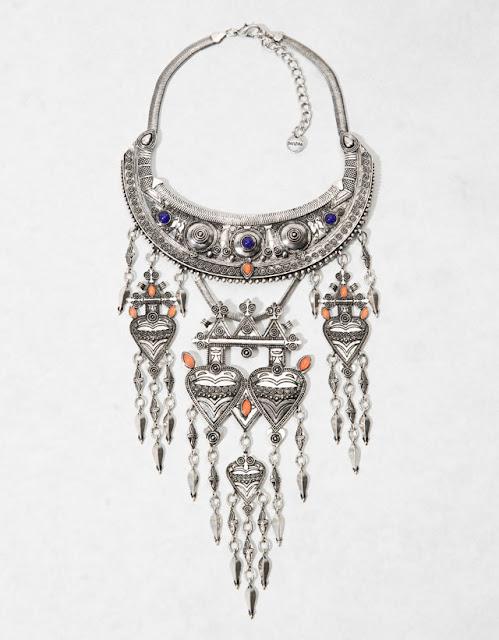 Colar étnico boho da Berska bijuteria coleção 2015