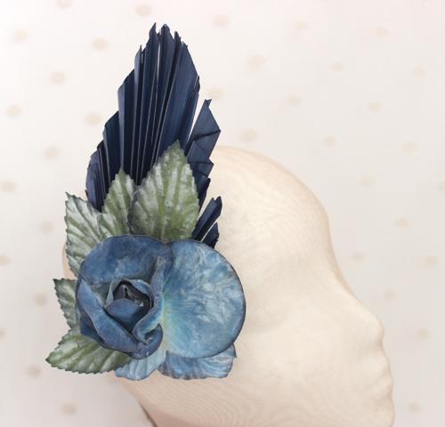 Colección Bailando Swing - Tocado flor azul