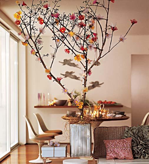 Árvores de natal de galhos - Imagens que me inspiraram
