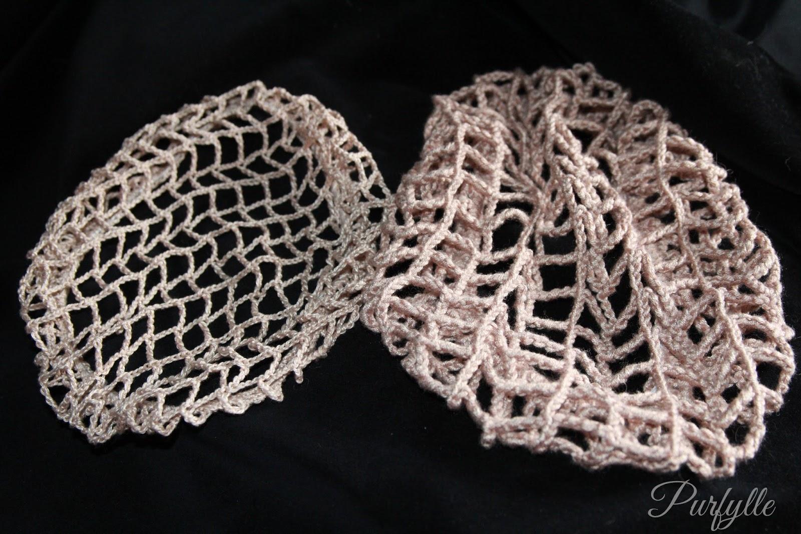 Purfylle free crochet snood patterns vintage snood drawstring ribbon elastic bankloansurffo Image collections